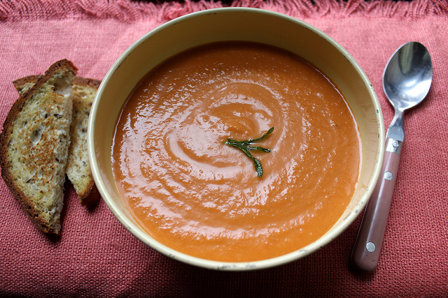 Tomato Bisque with Coconut Milk