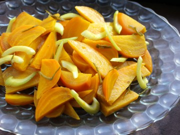 Golden Beet and Celery Salad with Pickled Peppers