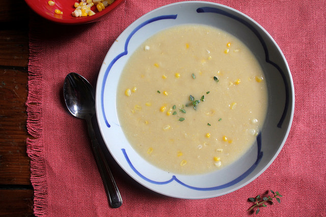 Cauliflower and Sweet Corn Bisque