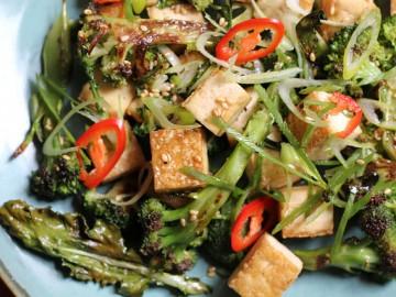 Roasted Broccoli and Crispy Tofu Salad