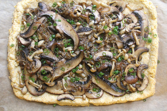 Savory Mushroom Tart (with a Cool Ranch Doritos Crust)