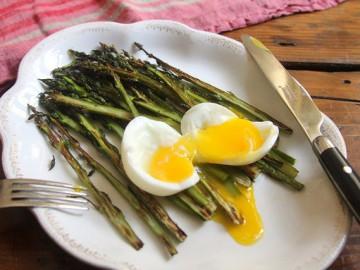 Crispy-Roasted Asparagus and A Soft-Boiled Egg
