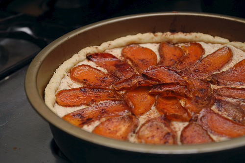 Candied Sweet Potato Ricotta Tart