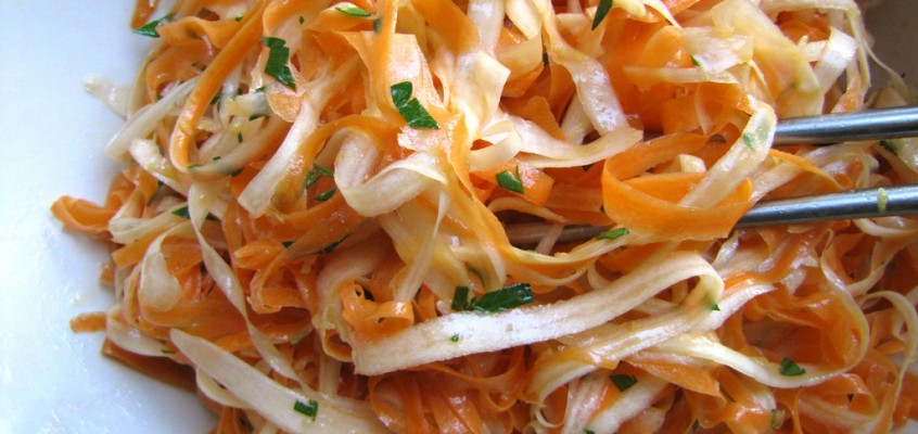 Raw Carrot & Parsnip Salad