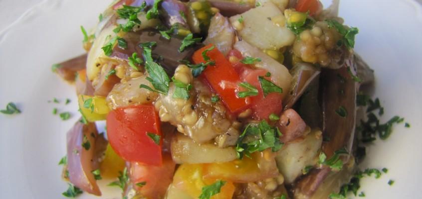 Eggplant-Tomato Tartare