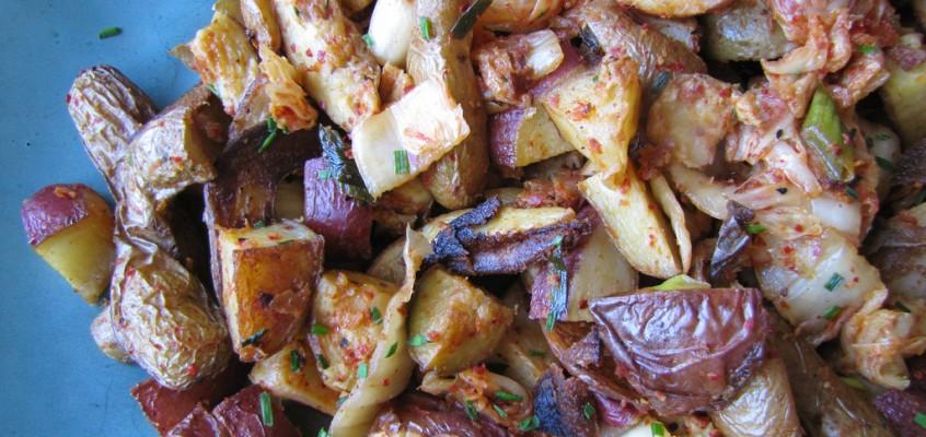 Kimchee Roasted Potatoes