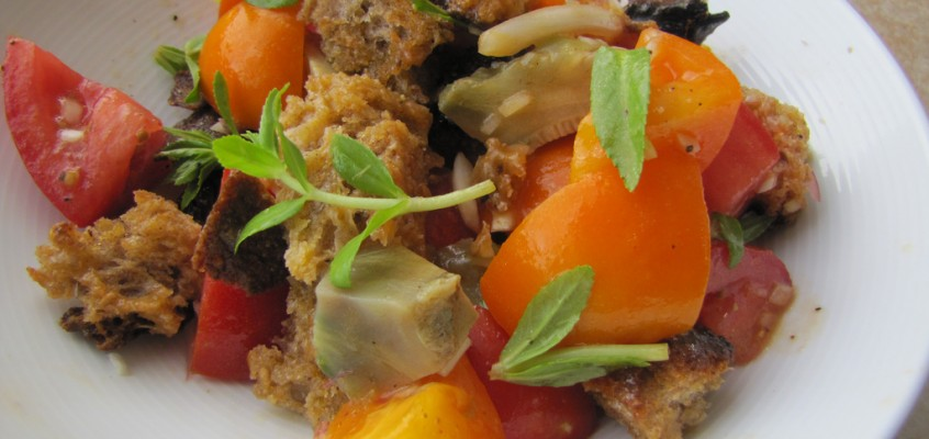 Tomato & Artichoke Panzanella (San Francisco Chronicles Part 1)