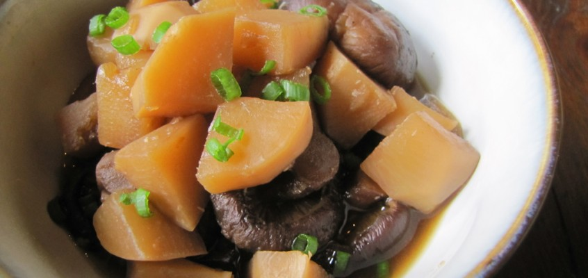 Soy-Simmered Turnips and Shiitake Mushrooms