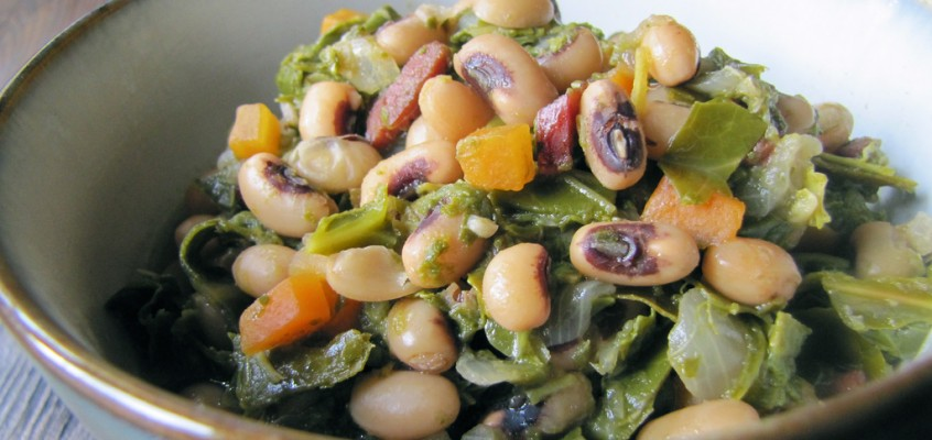 Hoppin' John with Bacon and Collard Greens