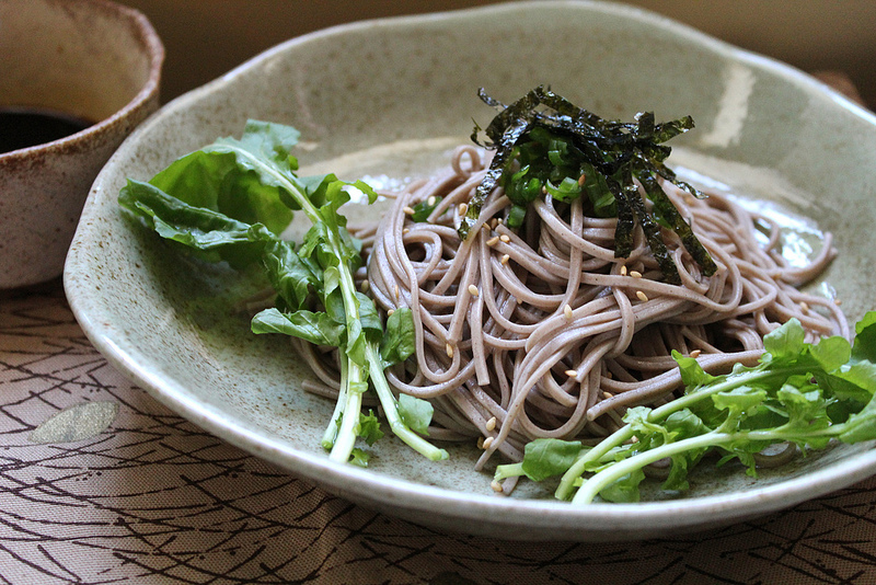 Chilled Soba with Arugula