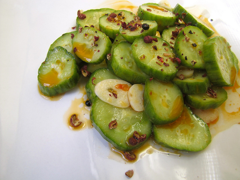 Spicy Sichuan Cucumber Salad with Persian Cucumbers