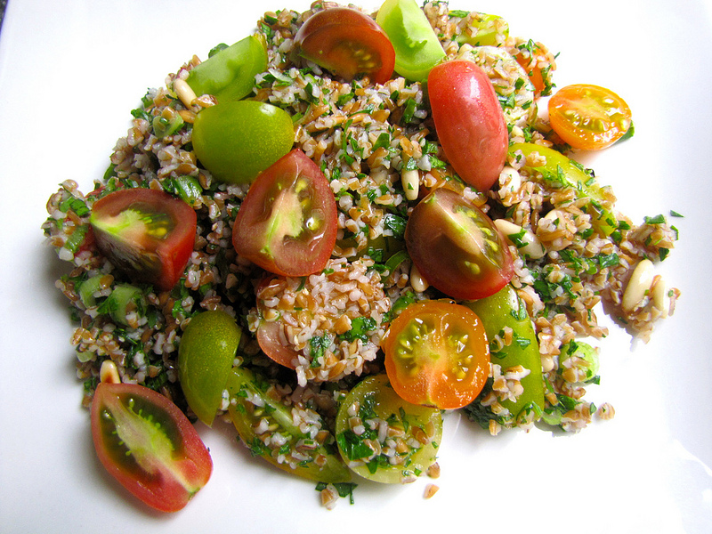 Tabbouleh Salad with Cherry Tomatoes & Pine Nuts