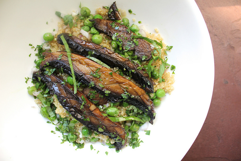 Quinoa with Portobello and Peas