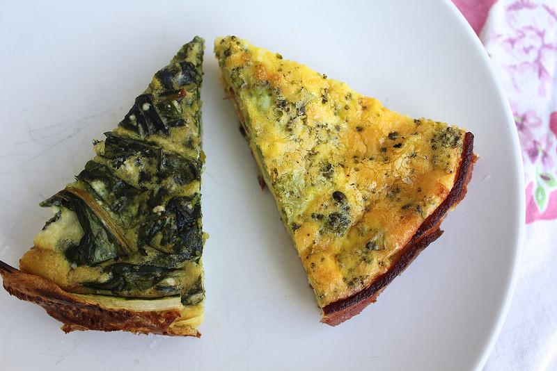 No-Pastry Quiche Two Ways: With A Bacon Crust and A Zucchini Crust