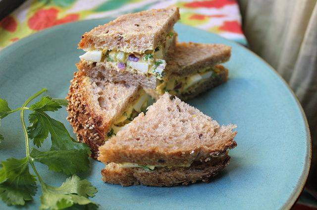 Green Curry Egg Salad Tea Sandwiches