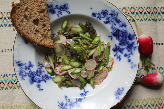 Shaved Asparagus and Radish Salad