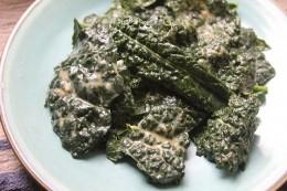 Kale Salad with Garlicky Miso Lemon Dressing