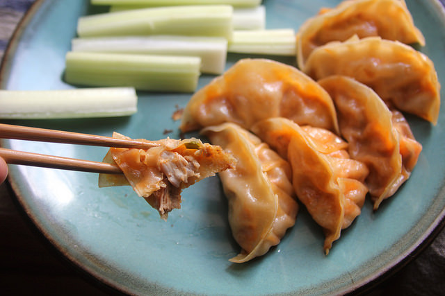 Buffalo Chicken Dumplings