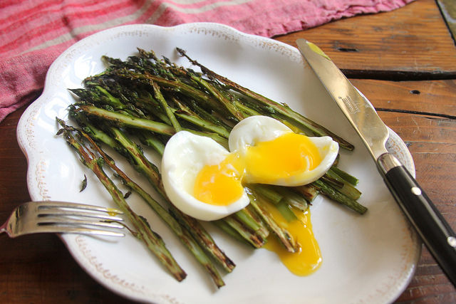 Crispy-Roasted Asparagus and A Soft-Boiled Egg