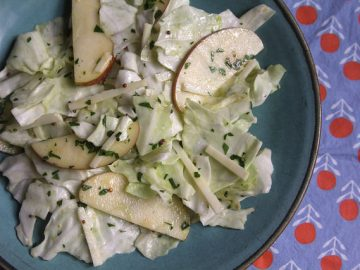 Torn Cabbage Salad with Apples and Pecorino