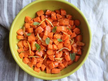 Carrot Salad with Cumin, Mint and Preserved Lemon