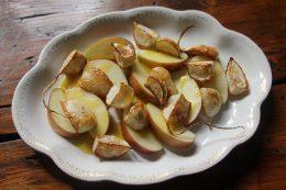 Apple and Roasted Hakurei Turnip Salad with Hot Honey-Mustard Dressing