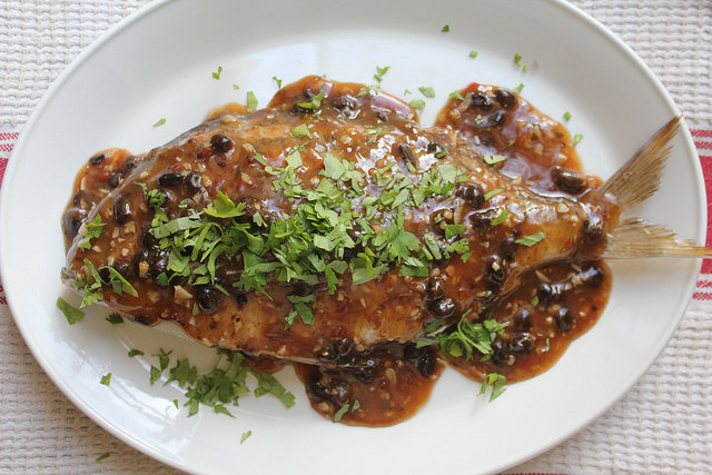 Steamed Whole Fish With Spicy Black Bean Sauce