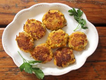 Winter Squash Fritters with Walnuts and Feta