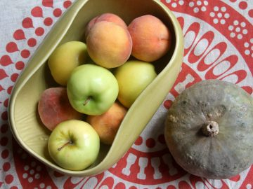 Apples, Peaches, Pumpkin Pie
