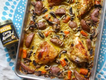 Coconut Curry Mustard Sheet Pan Chicken (And A Giveaway!)