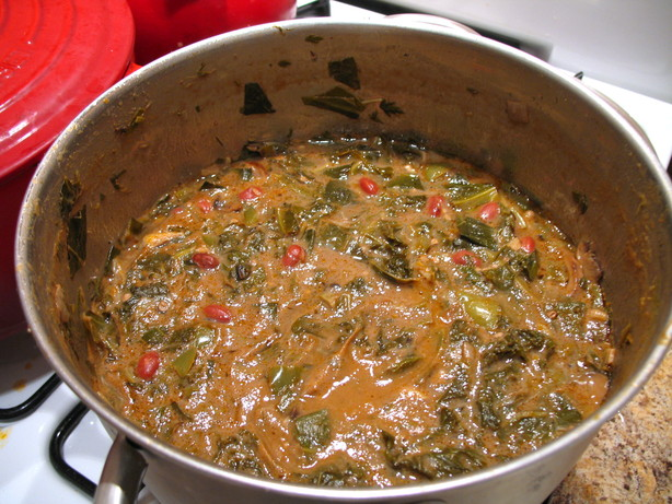 Green Gumbo or Gumbo Z'Herbes, a traditional New Orleans lent gumbo