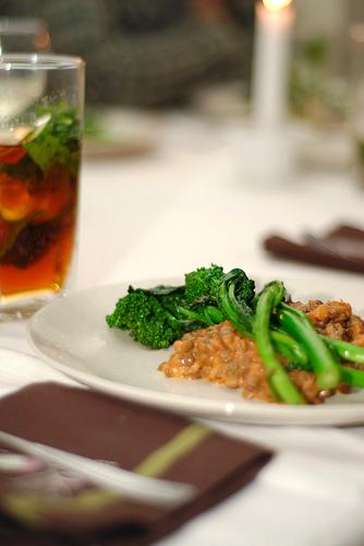 Creamy Tomato-Braised Lentils with Broccoli Rabe