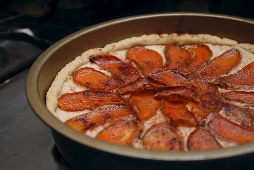 Candied Sweet Potato Ricotta Tart