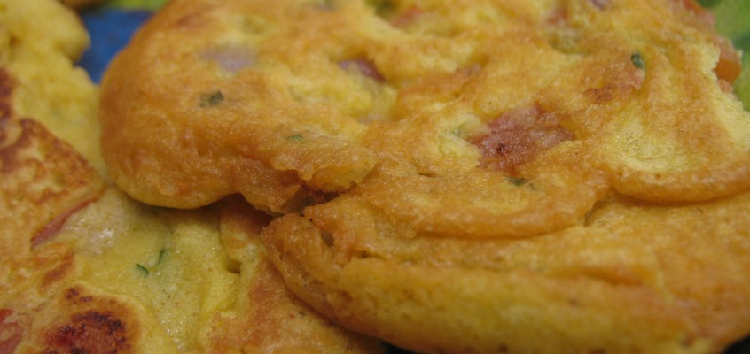 Savory Chickpea Flour Pancakes (at the Indian Culinary Institute)