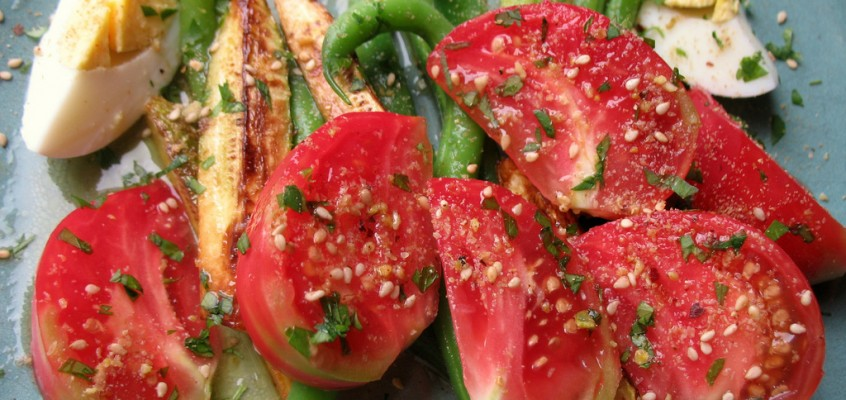 Heirloom Tomato Salad with Dukkah