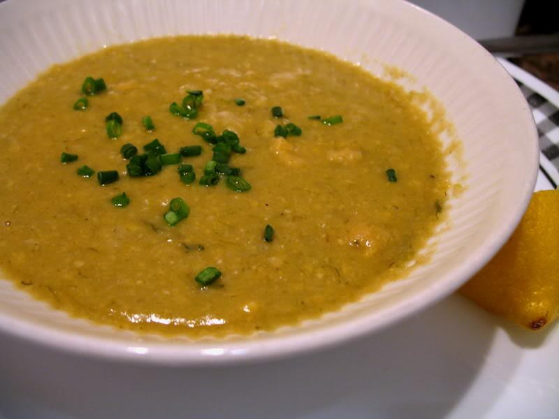 Chickpea Leek Soup
