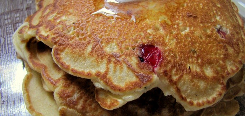 Cranberry and Corn Pancakes with Rosemary