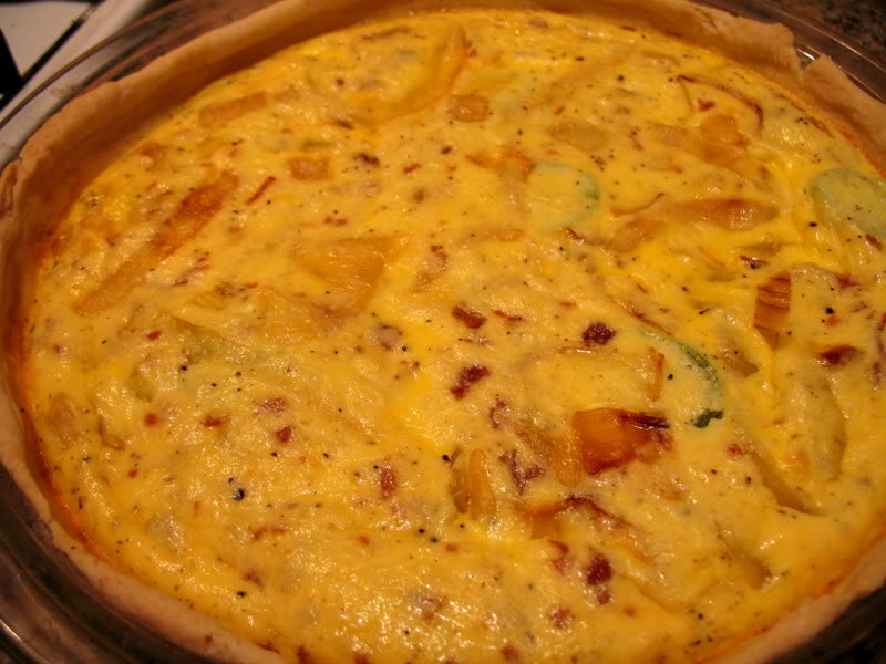 Carmelized Onion and Jalapeno Quiche