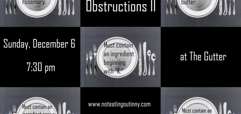 The Food Obstructions II is December 6