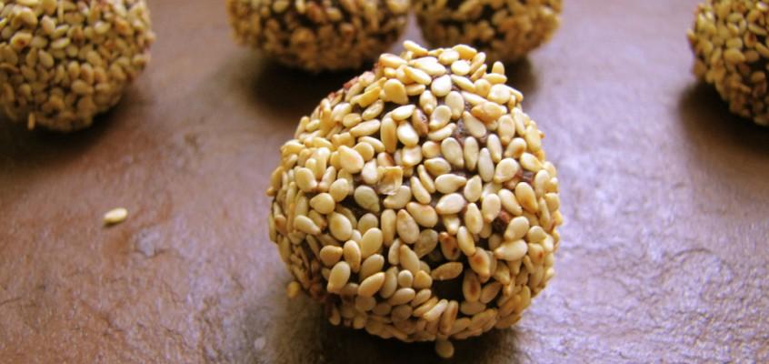 Ginger Sesame Truffles
