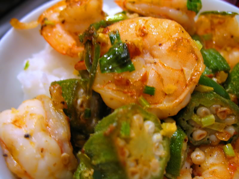 Thai Basil Shrimp 'n Okra