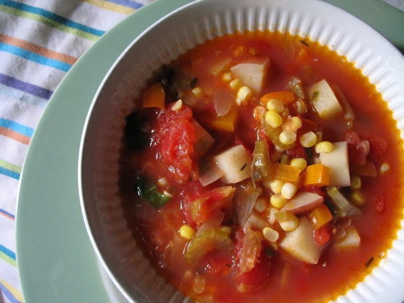 Manhattan Corn Chowder
