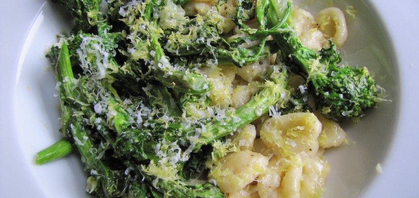 Homemade Orecchiette (or something almost resembling it) with Broccoli Rabe & Lemon Butter