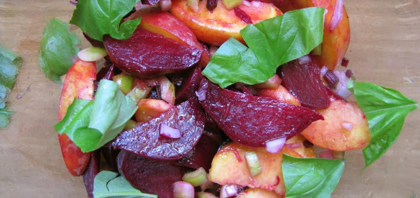 Peach and Roasted Beet Salad
