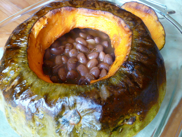 Chipotle Baked Beans In A Pumpkin