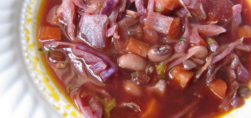 Red Cabbage & Black-Eyed Pea Soup