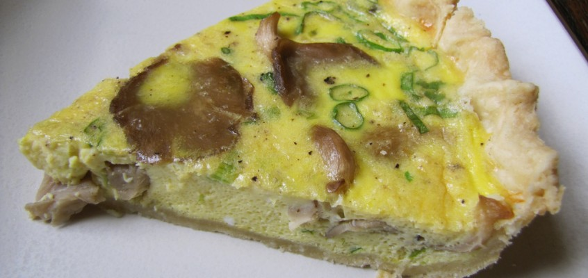 Wild Mushroom Quiche with Pecorino & Lemon Zest