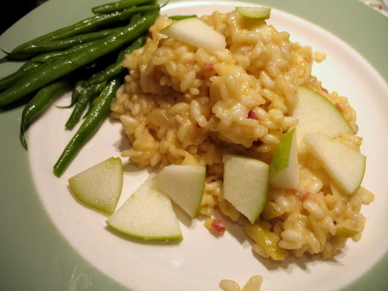 Green Apple and Brie Risotto