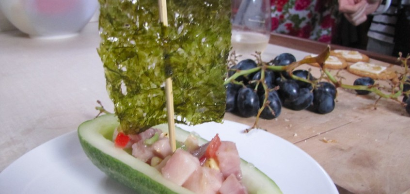 "Ceviche With Cucumber ""Boats"" & Nori ""Sails"" (San Francisco Chronicles Part 4)"