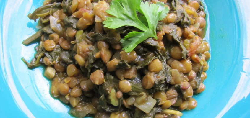 Palak Daal (Spinach and Lentil Curry)